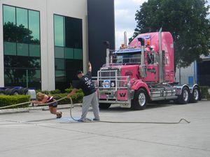 Man vs Truck