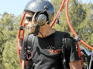 Paraglider eyes Morning Glory