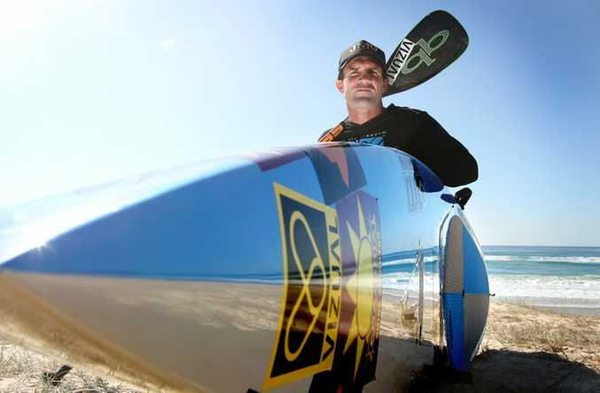 Chris Carter has started his standup paddle board journey to raise money for prostate cancer awareness.