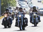 Members of the Bandidos roll into Caloundra for their annual gathering.
