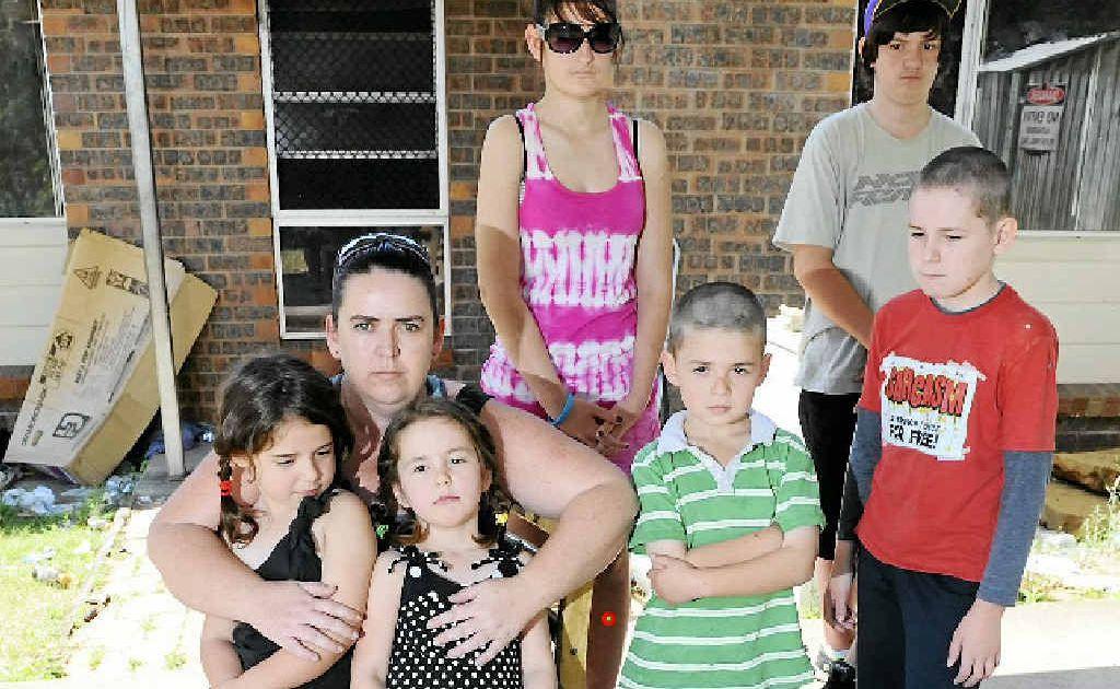 Mum Amanda Davis with kids Jessika Cuccuru, Jacklyn Cuccuru, Carmel Johnston, Jarrod Cuccuru, Alexander Knight and Ron Johnston.