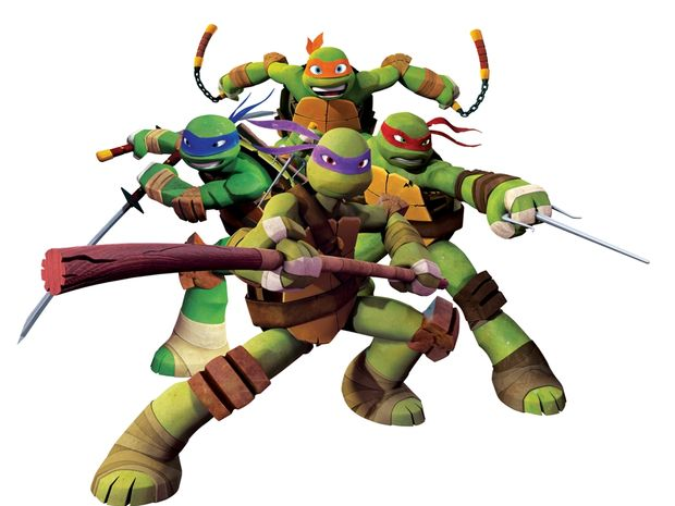 The characters from the new animated series of Teenage Mutant Ninja Turtles.
