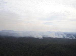 Smoke haze hangs over coast
