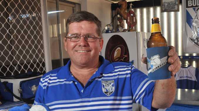 Mad Canterbury Bulldogs fan Jeff Treloar.
