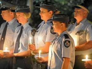 Vigil for slain police officers