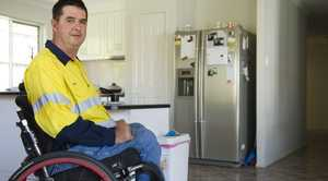 Rodney Vagg is inspiring workers from his wheelchair.