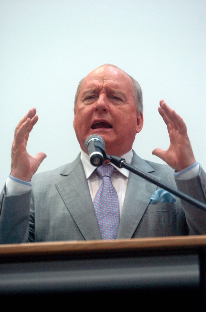 Shock jock Alan Jones