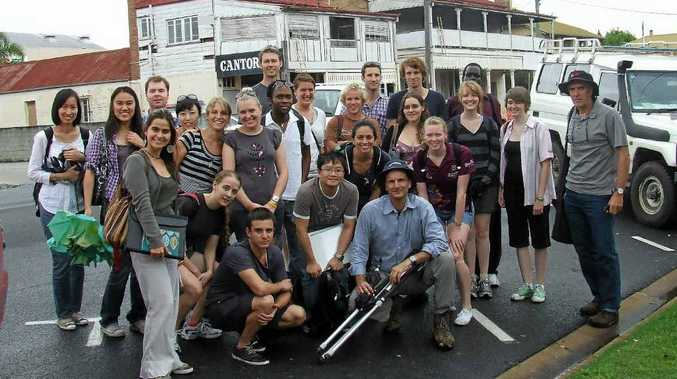 Environmental Law students from Brisbane outside Plumb's Chambers last year on a heritage field trip to Warwick.
