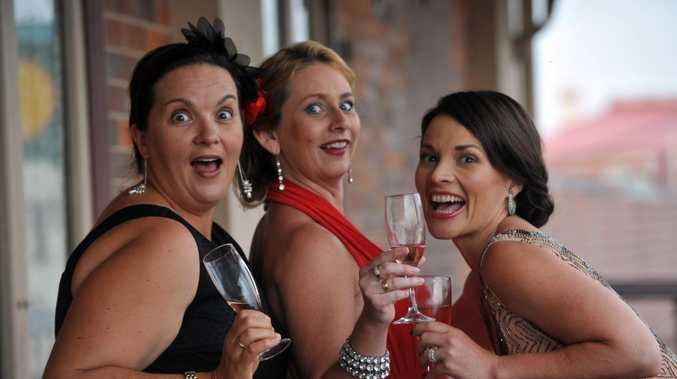 VINTAGE NIGHT: Keri-Anne McNee, Penny Teske and Fiona Bath are looking forward to the Umojo Charity Gala Dinner Dance where the theme will be Vintage Hollywood, it is being held at the Sails Room at the Across the Waves Sports Club. Photo: Max Fleet / NewsMail