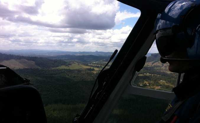 AGL Action Rescue Helicopter join in the search for a plane missing with six passengers on board.