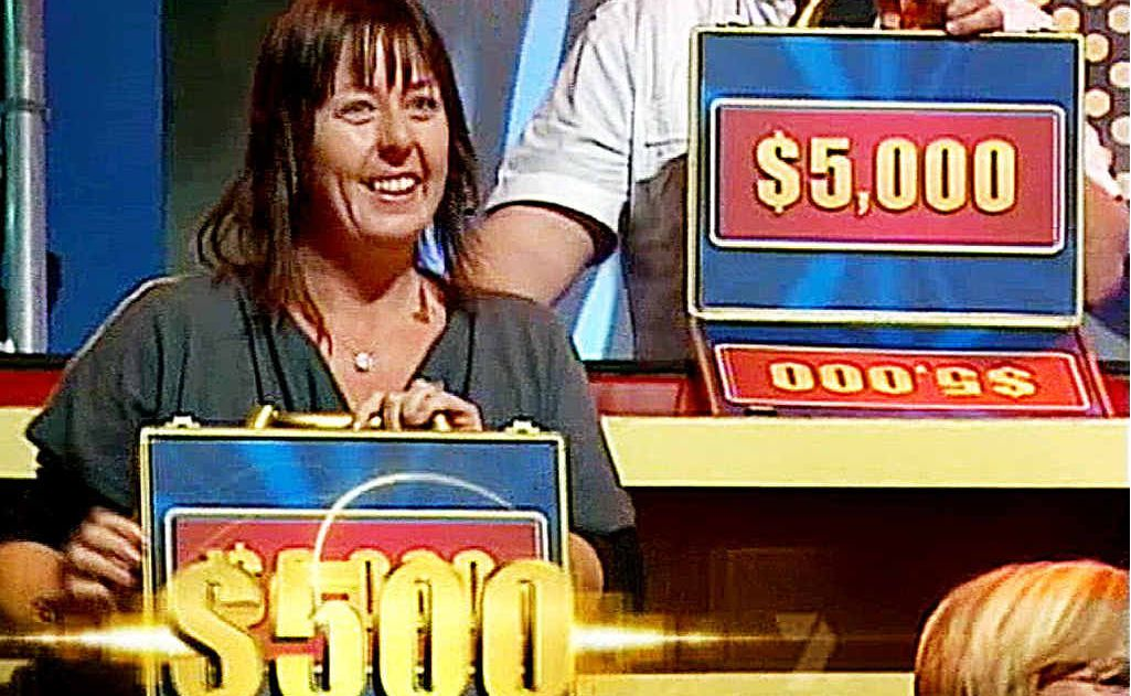 The Game Show Queen claims $500 for guessing the amount in her case.