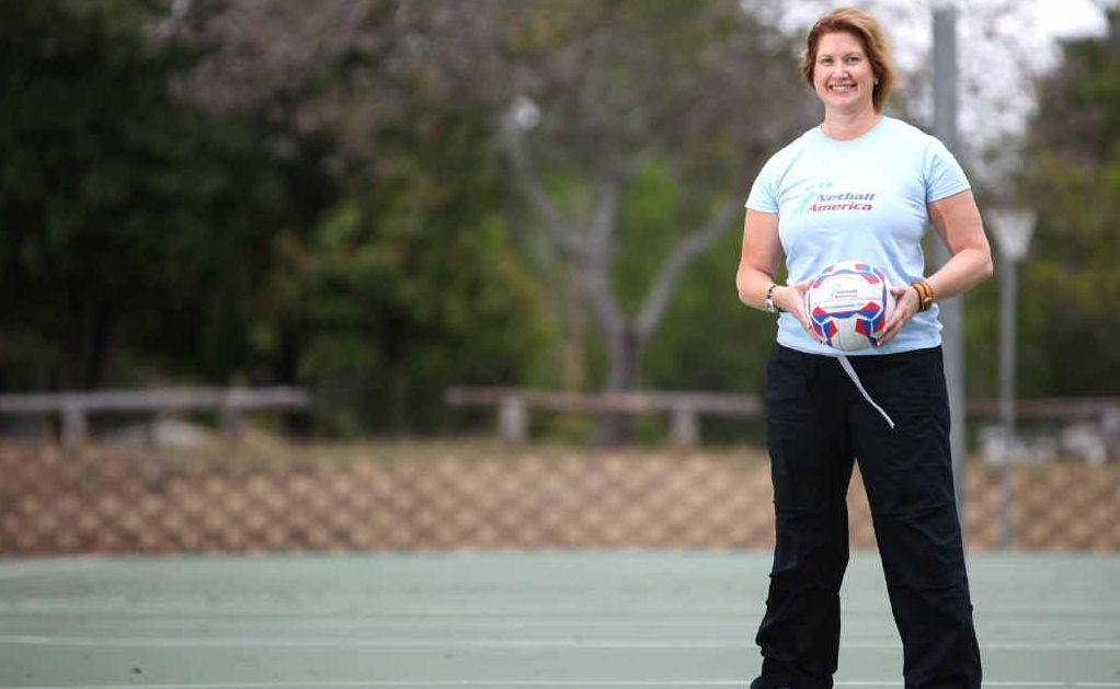 As president of Netball America Sonya Ottaway is working to make the sport as popular in America as it is in Australia and she is getting support from such people at Oprah Winfrey (inset) and First Lady Michelle Obama.