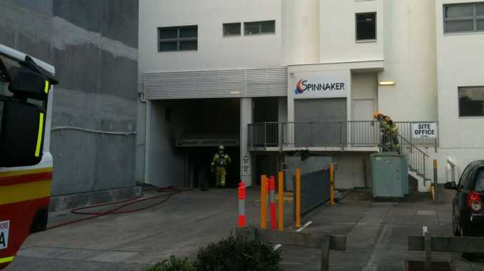 Evacuations are at place at the Spinnaker resort on Mooloolaba Esp following a car fire in the basement.