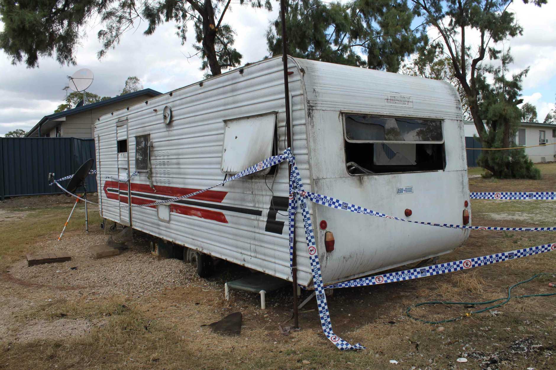 Frank Murray's caravan