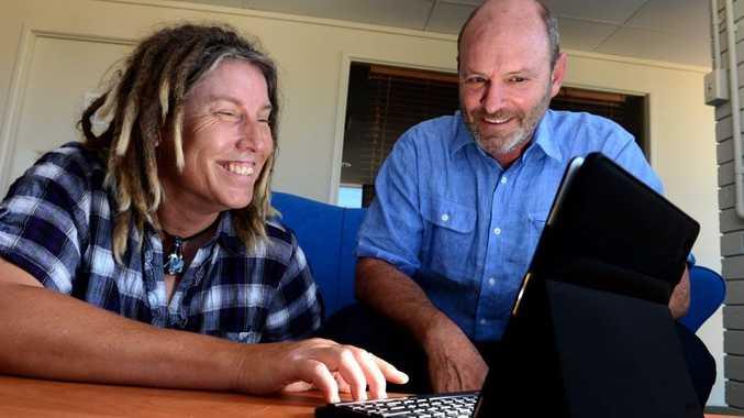 Carolyn Pickering (Community liaison officer) and Gary Bagnall. Photo: John Gass / Daily News