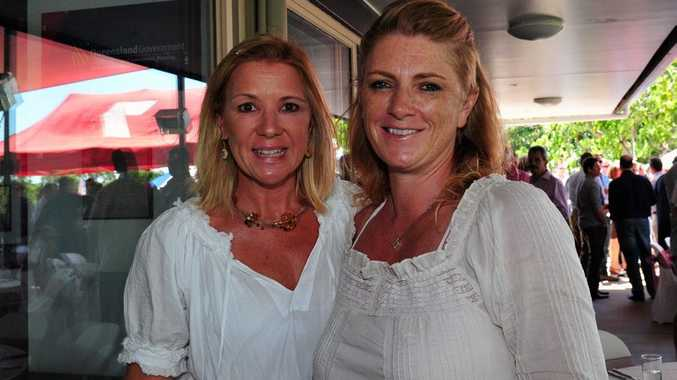 Noosa Rugby Union Club Long Luch./ Socials. (L-R) Miffy McKill and Christie Johnston.. Photo Geoff Potter / Noosa News.