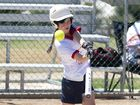 A competitor in action at yesterday's softball titles in Toowoomba. They continue all weekend.