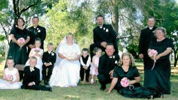 Leeanne and Paul Eastwell had their bridal party and groomsmen in black.