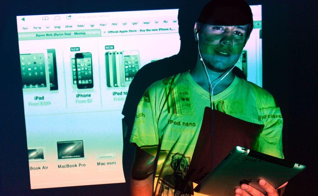 Tech savvy Dylan O'Donnell of DNA Ballina. Photo Patrick Gorbunovs / The Northern Star