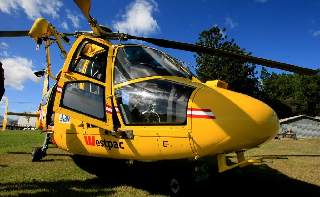 The Westpac Rescue Helicopter was tasked to Pottsville Beach this weekend.