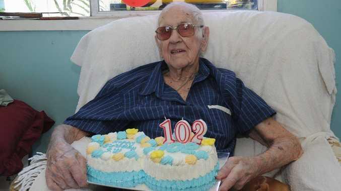 Maryborough's Bill Densem will celebrate his 102nd birthday on Thursday.