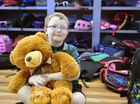 Hamish Craig Bell, 6, settles into after school care at the PCYC with his three-year-old teddy bear Mr Fancy Bow.