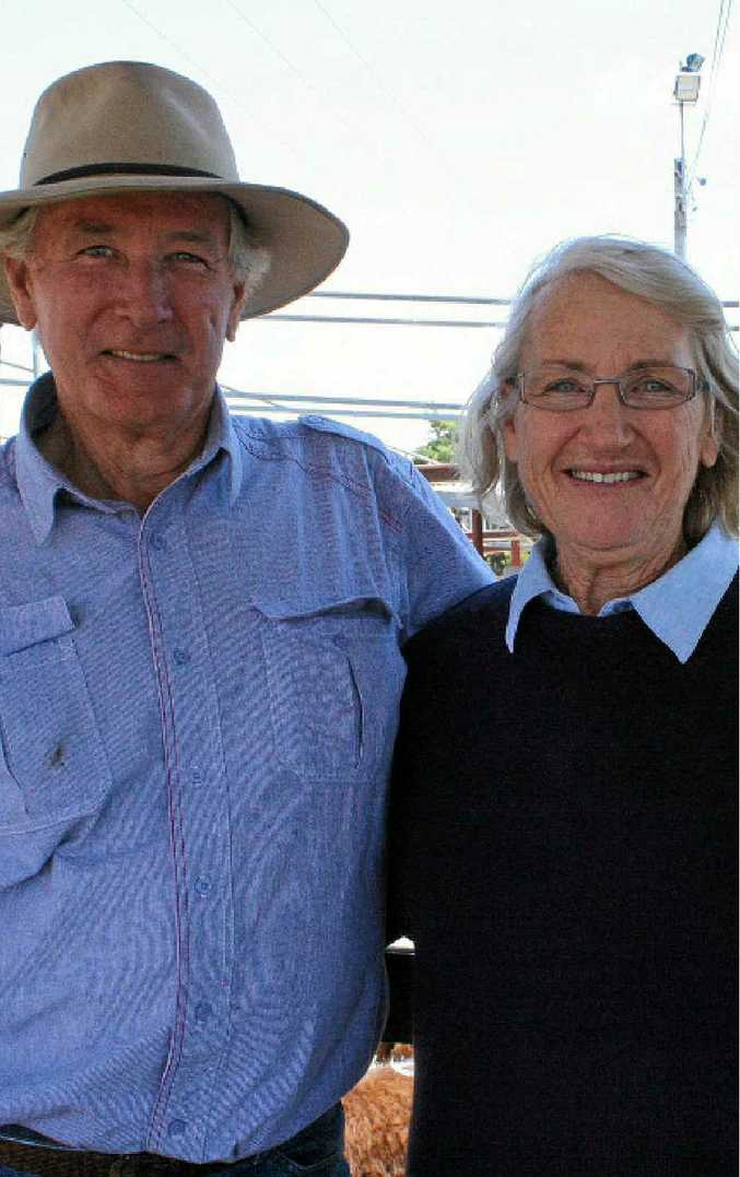 BUYER'S MARKET: Tenterfield couple Brian and Robin Kelly were happy with the prices at the cattle sales last week.