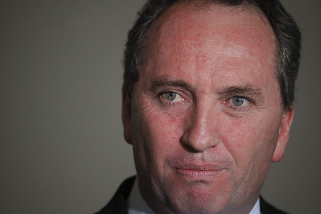 Federal Agriculture Minister Barnaby Joyce.