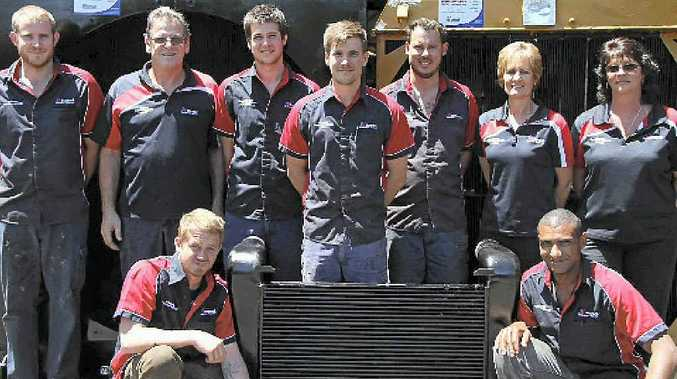 TEAMWORK: Natrad Heavy Duty Specialists (HDS) Gary and Julie Heazlewood and the team at Coxon's Radiator Service.