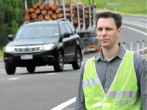 The RACQ's Greg Miszkowycz is touring regional highways.