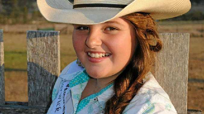 Junior Cowgirl entrant Brittany Keogh is looking forward to representing Warwick at the rodeo.