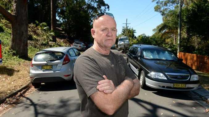 Wayne King angry over his now narrow road.