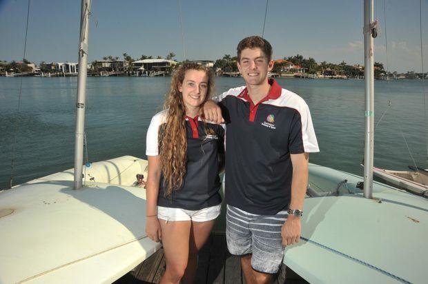 Mooloolaba sailors Mitch and Madison Kennedy are in the Olympic train-on squad. Photo: Brett Wortman / Sunshine Coast Daily