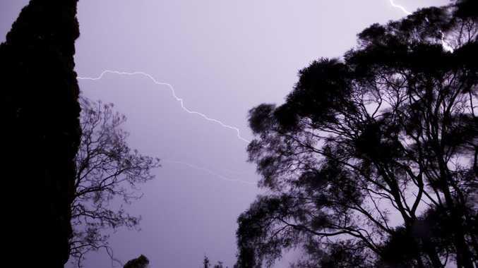 Kevin Farmer captured this lightning strike during Thursday morning's storm.
