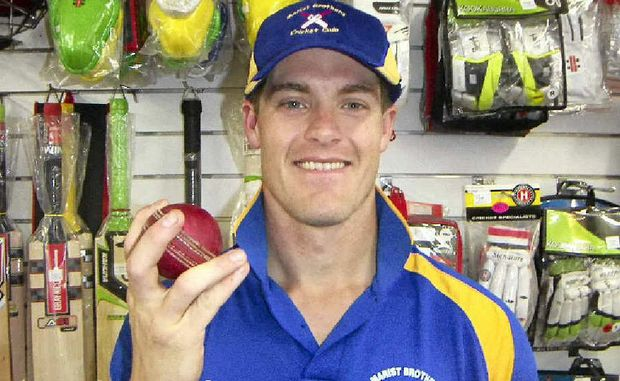OFF SPIN: Marist Brothers' Hartley Spann took a hat-trick off Workers.