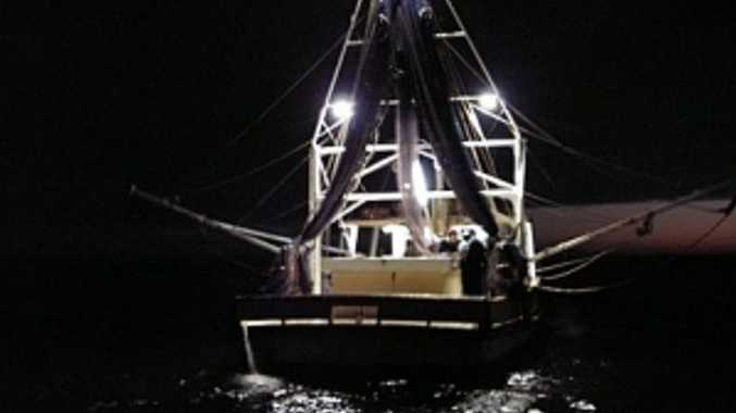 Fisheries have allegedly caught a prawn trawler with illegally modified fishing nets.