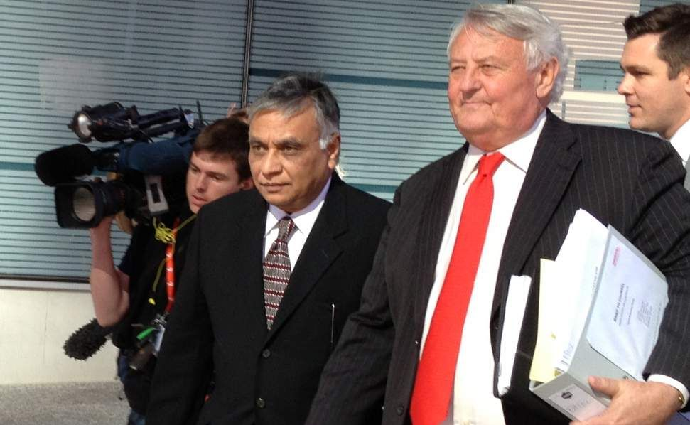 Former surgeon Jayant Patel (left) with barrister Kenneth Fleming.