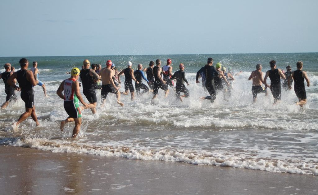 The 2012 Agnes Water Triathlon attracted a big, quality field with the swim leg contested in choppy conditions at Agnes' main beach.