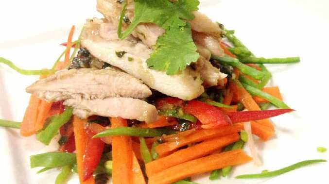 Ben's marinated Asian chicken salad.