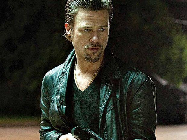Brad Pitt in a scene from the movie Killing Them Softly.