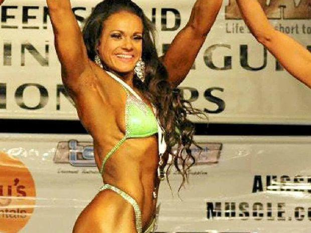 Morgan Hayward started bodybuilding two years ago.
