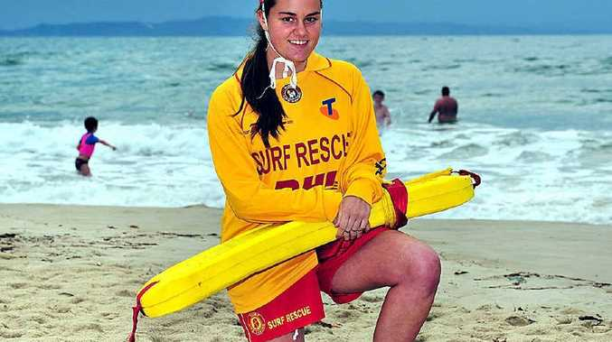 Alyce Tancredi made her first rescue at Noosa Main Beach.