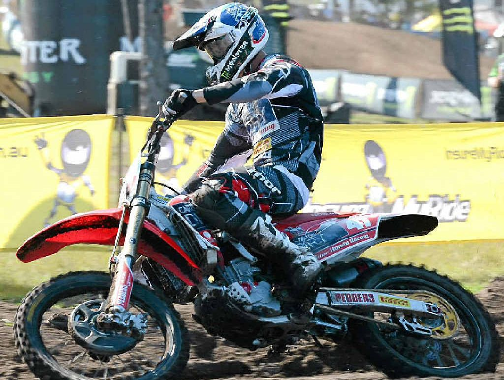 Ford Dale gets through the dirt at the MX National finals in Coolum in August.