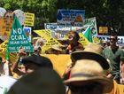 CSG Rally/Protest at Murwillumbah Photo Blainey Woodham / Daily News
