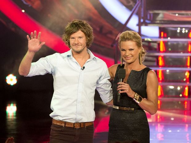 Josh Moore with Sonia Kruger.