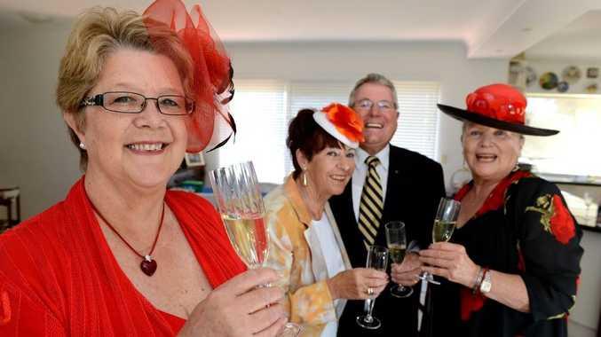 Michelle Mitchell, Jennifer Milburn, Barry Milburn, Diana Traversi are looking forward to a Rotary Melbourne Cup lunch.