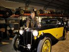 Colin Schiller with his 1936 MG TA Airline. Photo Dave Noonan / The Chronicle