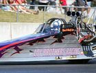 Chris Loy takes off for a pass at Dragfest on Sunday.