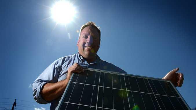 Rick Sproxton says his solar panels are saving him money.