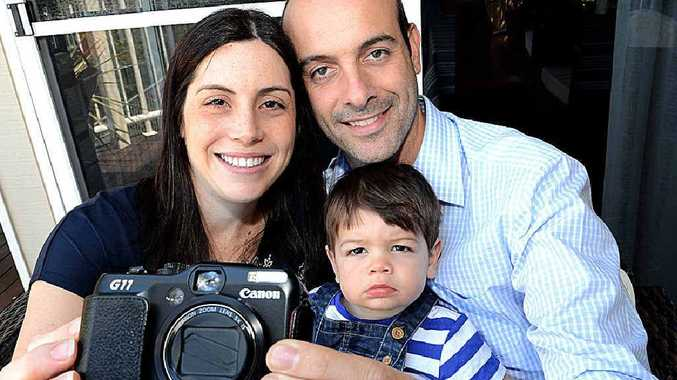 Anna, Christophe and young Sebastian Grammare have their camera back.
